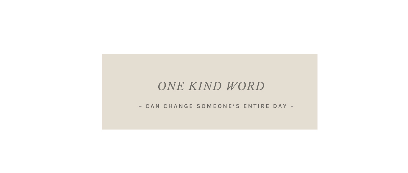 onekindword